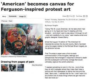 American Becomes Canvas For Ferguson Inspired Protest Art